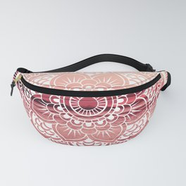 Mandala Water : Living Coral /Rose Pink Fanny Pack