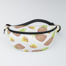 Hand Painted Watercolor Tropical Pineapples Fanny Pack
