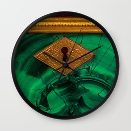 Malachite Box 4 Wall Clock