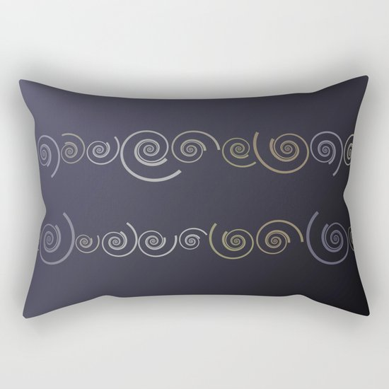 Spiral line up-Purple Rectangular Pillow