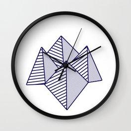 Paku Paku, navy lines Wall Clock