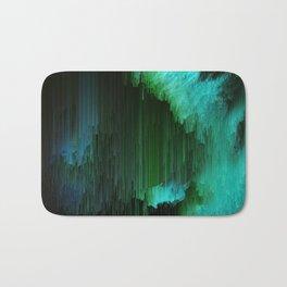 Aurora Borealis - Abstract Glitchy Pixel Art Bath Mat