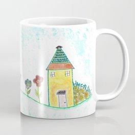 Happy Houses - Folk Art Print Coffee Mug