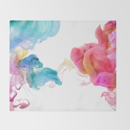 Colorful smoke pattern Throw Blanket
