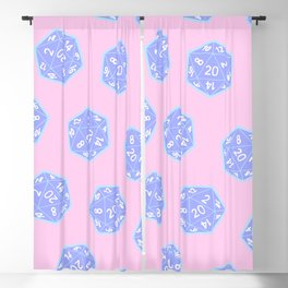 Twenty Sided Dice Pattern Blackout Curtain