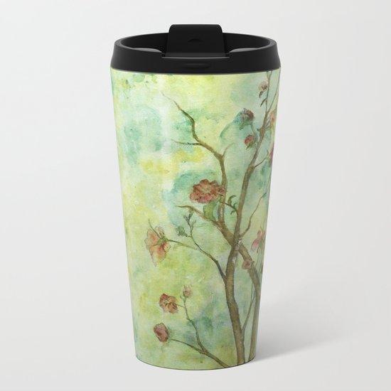 Branch with flowers Metal Travel Mug