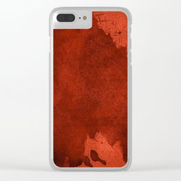 Rust Texture Clear iPhone Case