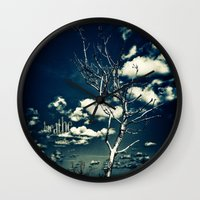 breathe Wall Clocks featuring BREATHE by Steffen Remter