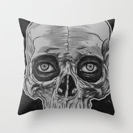 Behind the skull Throw Pillow