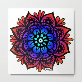 Peaceful Mandala Metal Print