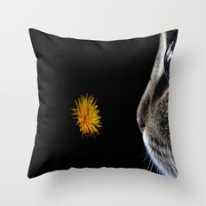 Cat and flower Throw Pillow