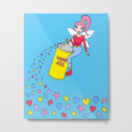 Fairy with a can of whoop ass Metal Print