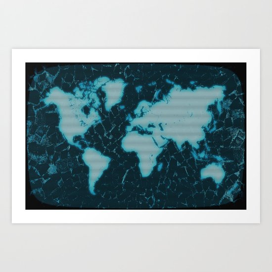 World Map TV Art Print