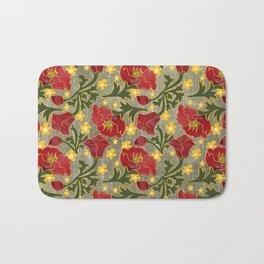 Vintage Crepe Floral Bath Mat