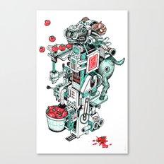 tomato shooting goat machine! Canvas Print