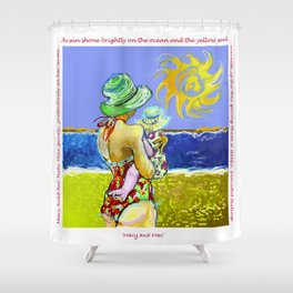 'Mary and Max' (Saw Sea Art Series) Shower Curtain