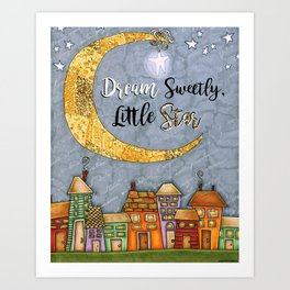 Dream Sweetly, Little Star Art Print