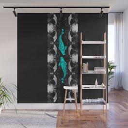 Koi Dance (Teegardin Teal) Wall Mural