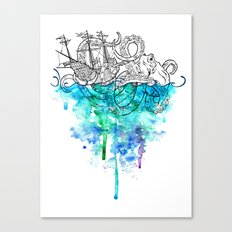 From the Deep, Deep Down. Canvas Print