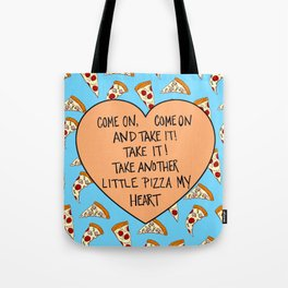 A Pizza My Heart Tote Bag