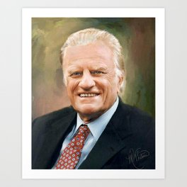 Rev. Billy Graham Art Print