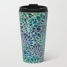Floral Abstract 4 Metal Travel Mug
