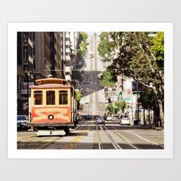 California Street Cable Car San Francisco Art Print