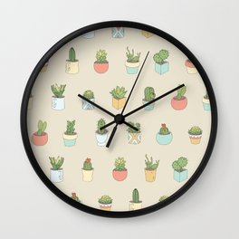 Cute Succulents Wall Clock