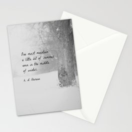 Thoreau Quote Winter Stationery Cards