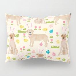 Yellow Lab labrador retriever dog breed pet art easter pattern costume spring Pillow Sham
