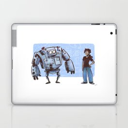 A Girl and her Robot Laptop & iPad Skin