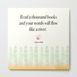 Virginia Woolf Book Quote Metal Print