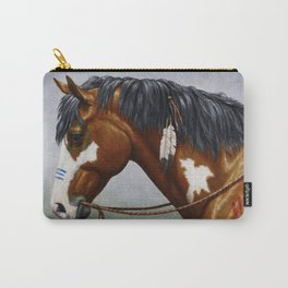 Bay Pinto Native American War Horse Carry-All Pouch