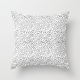 Black and White Spots Throw Pillow