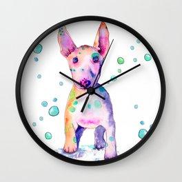 Terrier Bubbles Wall Clock