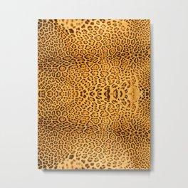 Brown Beige Leopard Animal Print Metal Print