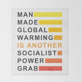 Socialist Power Grab Throw Blanket