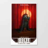 birdman Canvas Prints featuring Birdman by James Bousema