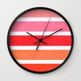 Pink & Orange Geometric Pattern Wall Clock