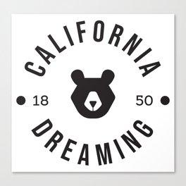California Dreaming Minimalist Bear Canvas Print
