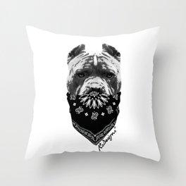 Animal Bandits - Pitbull Throw Pillow