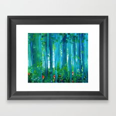Fox-Forest Framed Art Print