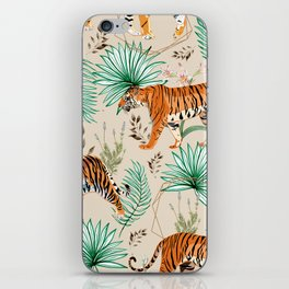 Tropical & Tigers iPhone Skin