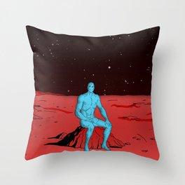 Dr Manhattan Throw Pillow
