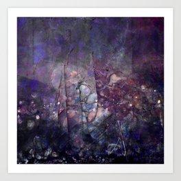 Cracked Purple Geode Texture Art Print