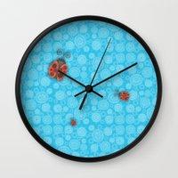 ladybug Wall Clocks featuring Ladybug by JoonMoon