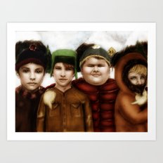 Going down to South Park Art Print