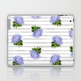 Hydrangeas flower with stripes Laptop & iPad Skin