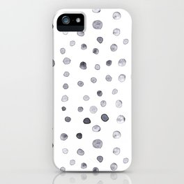 Minimalist Hand-painted Blue Dots iPhone Case