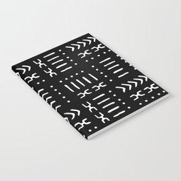Black White Mud Cloth Tribal Pattern Notebook